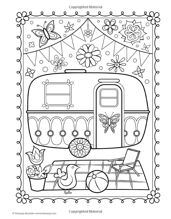 Amazon Happy Campers Coloring Book Is Fun 9781574219654