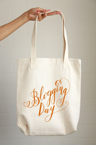 Blogging Day Tote Bag