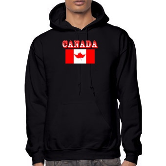 T-Shirts Canadian Flag Canada Men's Hooded Sweatshirt