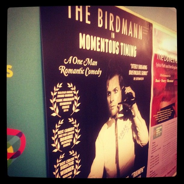 "@leecybrooks's photo: ""See the birdmann @ #mfringe ""When he feels lonely he rolls over and hugs his feminine side"" :-)"""