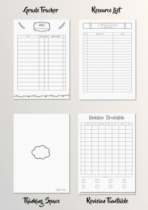 Calendario Timing.Bullet Journal Academic School Student Planner