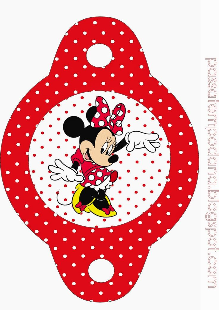 Minnie Red and White Polka Dots: Free Party Printables.   Oh My Fiesta! in english