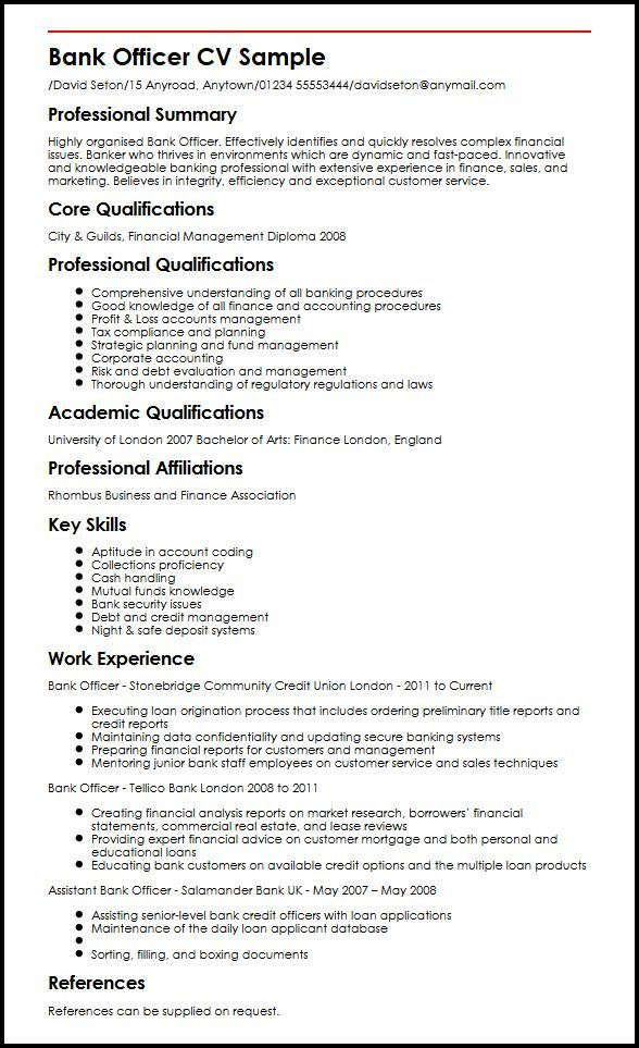 Resume Examples Banking #banking #examples #resume #resumeexamples