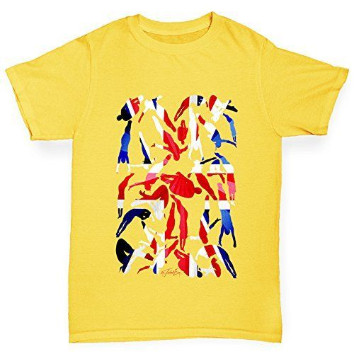 Twisted Envy GB Diving Silhouette Boys Yellow TShirt Age 1214 >>> You can find more details by visiting the image link.