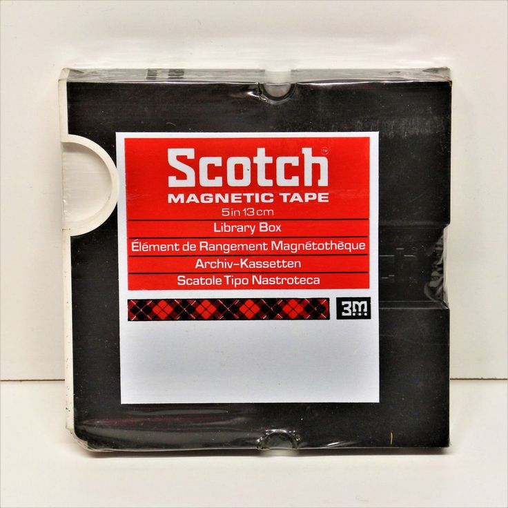 SCOTCH MAGNETIC TAPE  5in 13cm LIBRARY BOX sealed and unused 3M