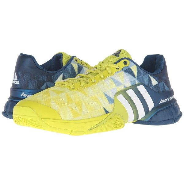 adidas Barricade 2016 (Shock Slime/White/Tech Steel) Men's Tennis... ($140) ❤ liked on Polyvore featuring men's fashion, men's shoes, mens lace up shoes, adidas mens shoes, mens lightweight running shoes, mens steel toe shoes and mens tennis shoes
