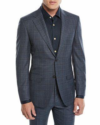 6791b8e5 Canali Designer Men's 130s Wool Plaid Two-Piece Suit | Avivey (Style ...