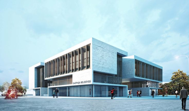 Gazipasa Municipal Building and Trade Center National Architectural Competition Entry