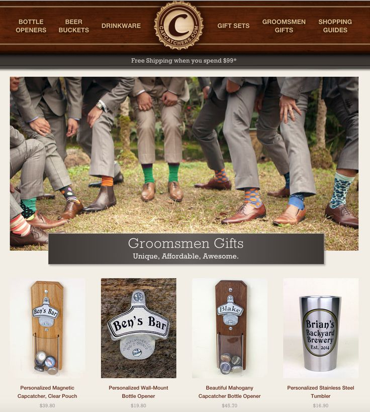 Check out our new website for cool groomsmen gifts!