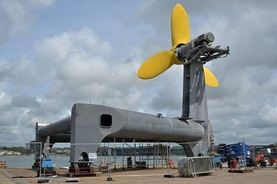 Turbina que explora energia das marés pronta para ser instalada