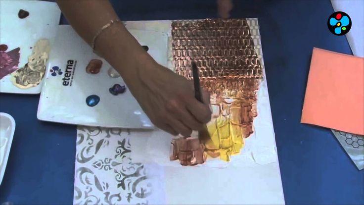 Técnicas Mixtas sobre madera - Lidia Gonzalez Varela en Manos a la Obra