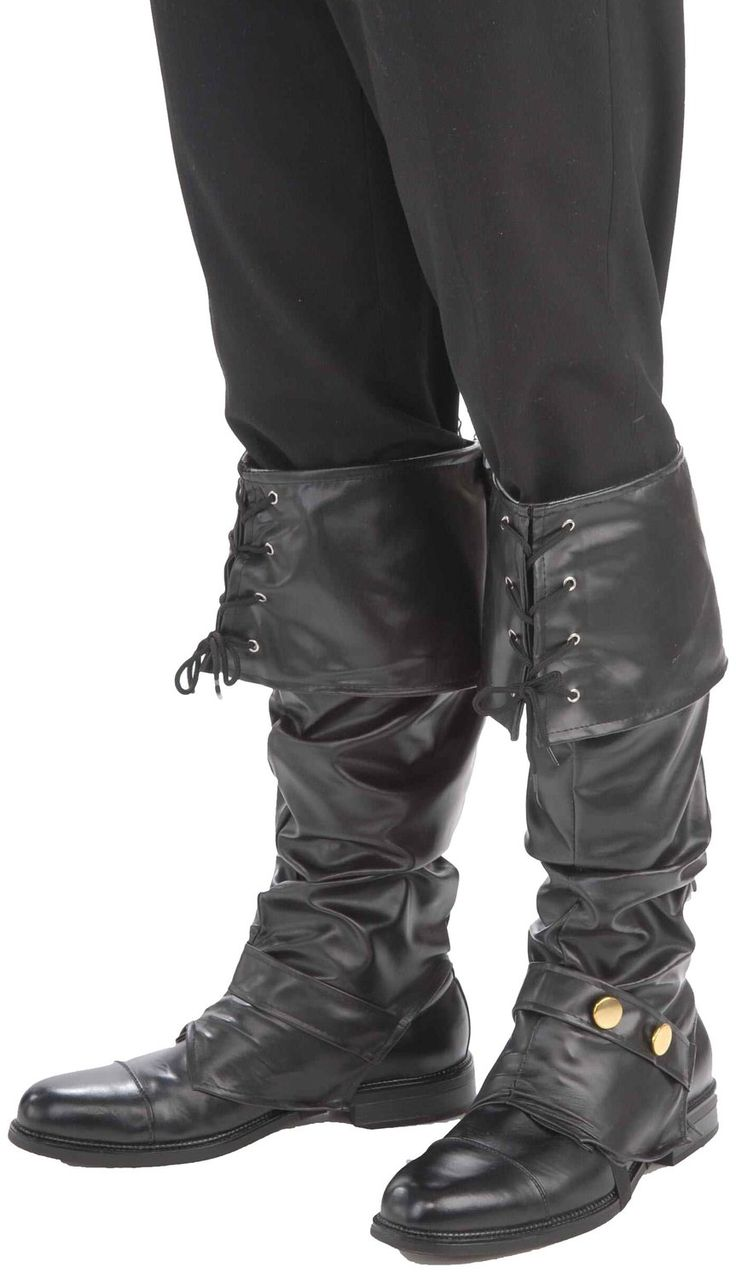 Amazon.com: Forum Novelties Men's Deluxe Adult Pirate Boot Covers with Studs, Black