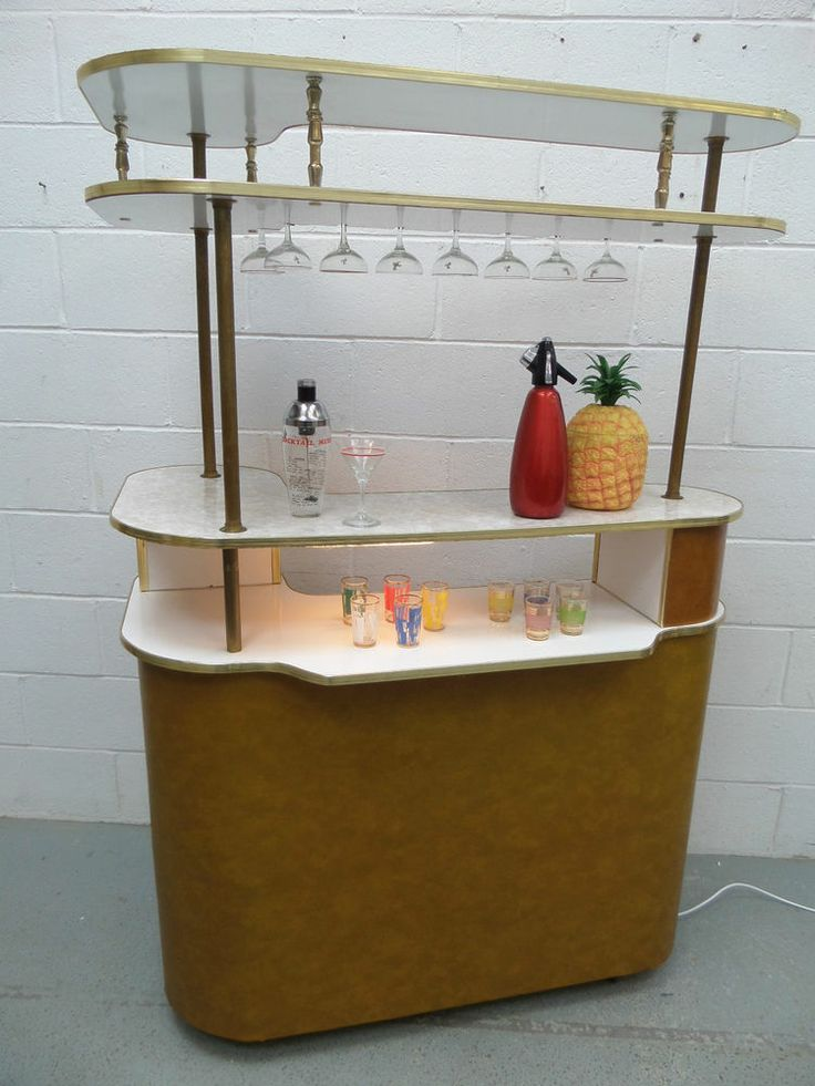 RARE LARGE Retro Vintage 50s 60s Cocktail Home Drinks Bar