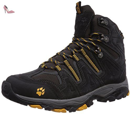 Monterey Air Low M, Sneakers Basses Homme, Noir (Burly Yellow), 45.5 EUJack Wolfskin