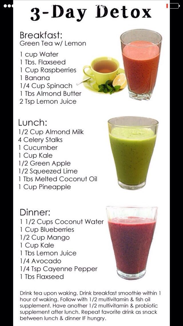 Fast, Easy Way To Loose Belly Fat - 3 day detox | Health | Smoothies, Detox recipes, Healthy Recipes
