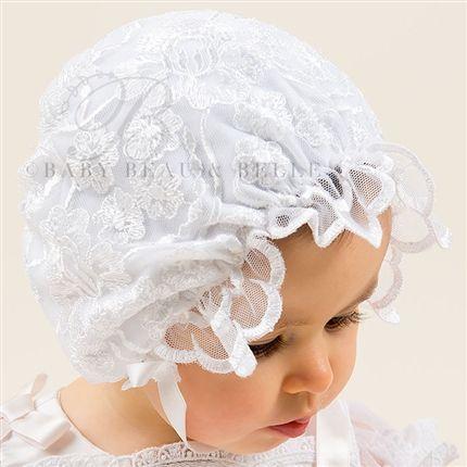 Joli White Lace Bonnet