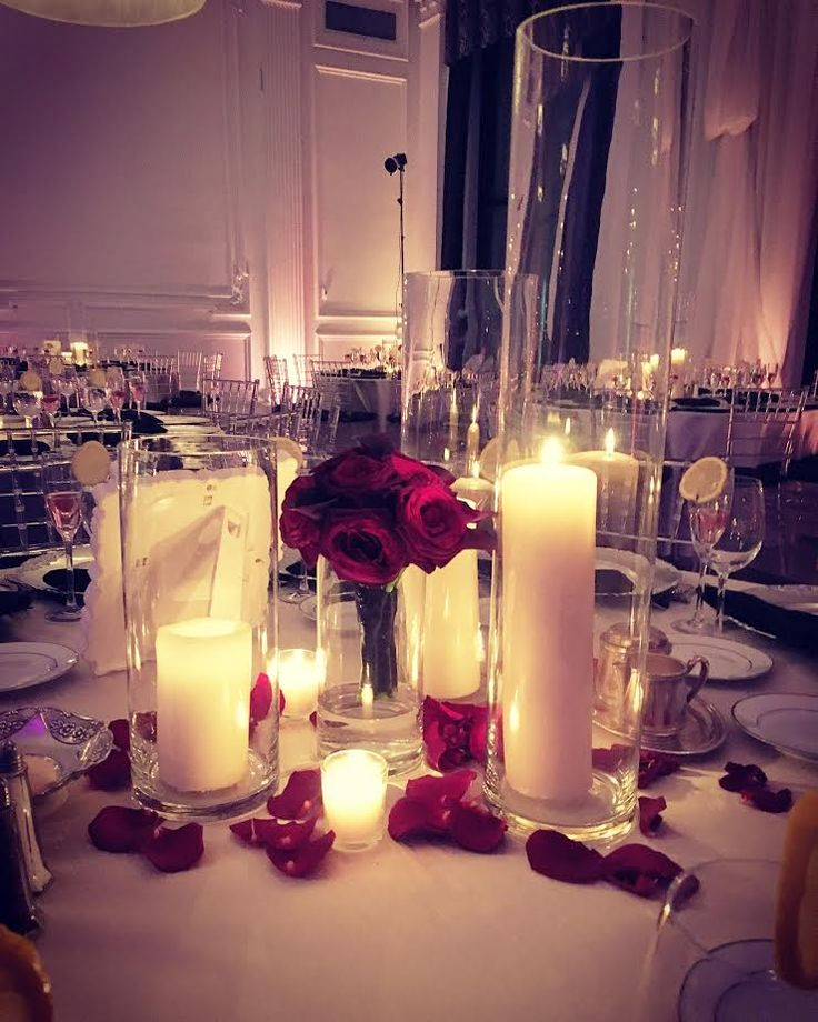 church wedding decorations candles%0A Candle Centerpieces  October Wedding