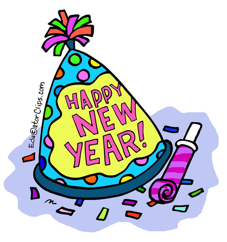 Happy New Year Hat Clip Art for teachers and students.