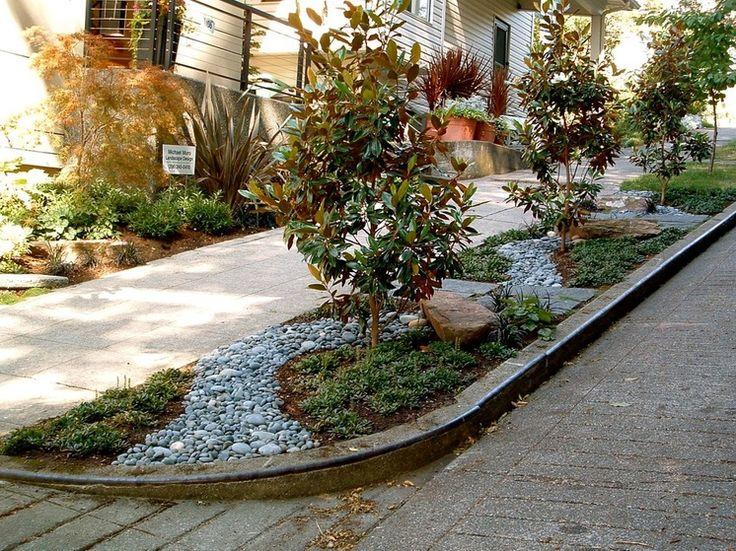 Unique garden with dry creek