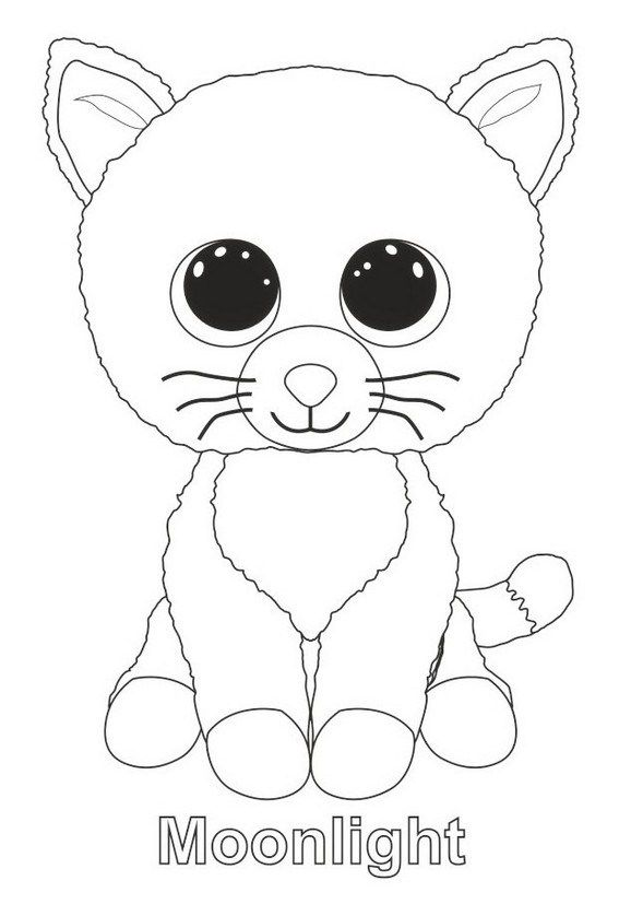 Moonlight From Beanie Boo Coloring Page Beanie Boo Dog Birthday Dog Birthday Party