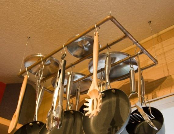 copper pipe pot rack