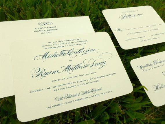 Traditional Elegant Wedding Invitations: 1000+ Ideas About Formal Invitations On Pinterest