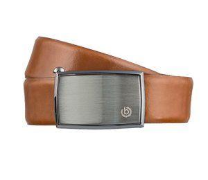 bugatti ceinture des hommes ceinture en cuir boucle automatique cognac, Länge:100 cm;Farbe:braun