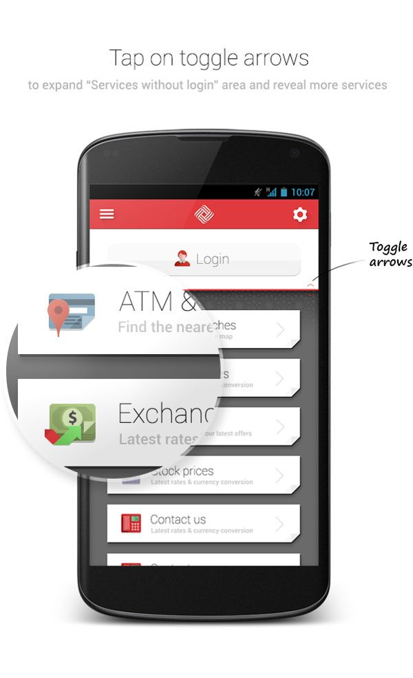 Qatar International Islamic Bank Android Application by mohammed Abdellatief, via Behance