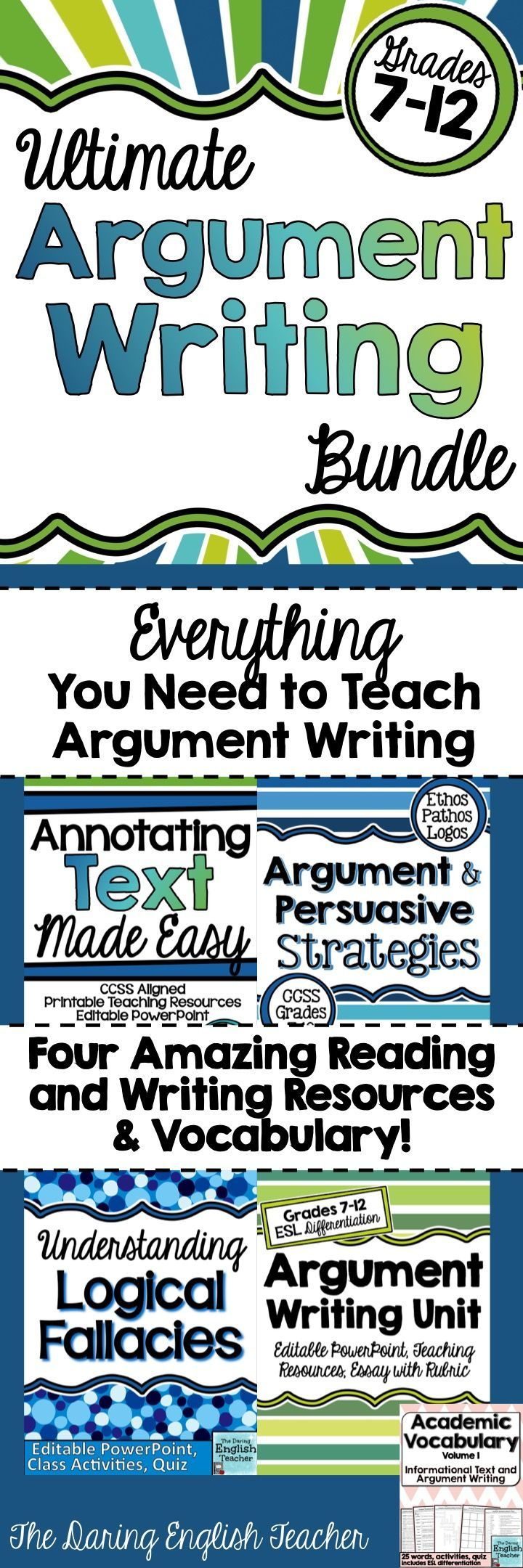 Graphic organizer for argumentative essay writing Pinterest
