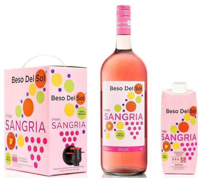 Beso Del Sol: Pink Sangria