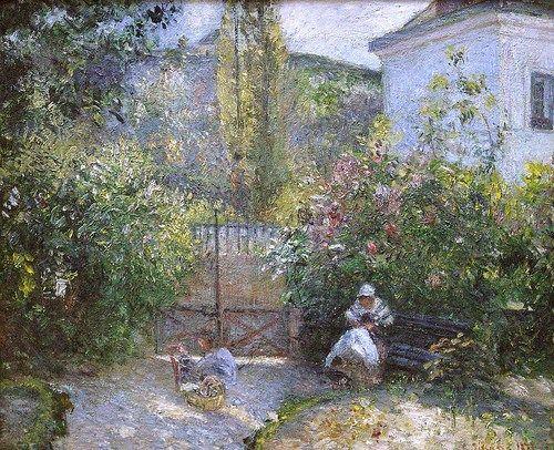 Hermitage Garden, 1877 ~ Camille Pissarro ~ (French: 1830-1903)