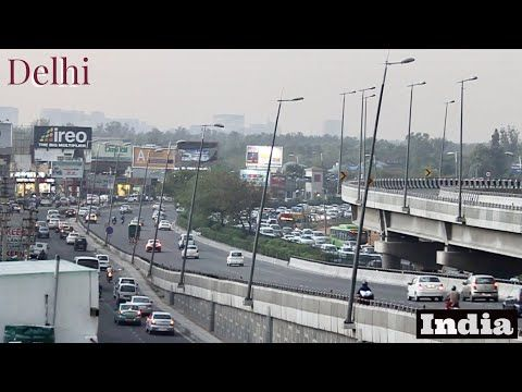 Delhi traffic (Indian traffic without a chaos) - YouTube