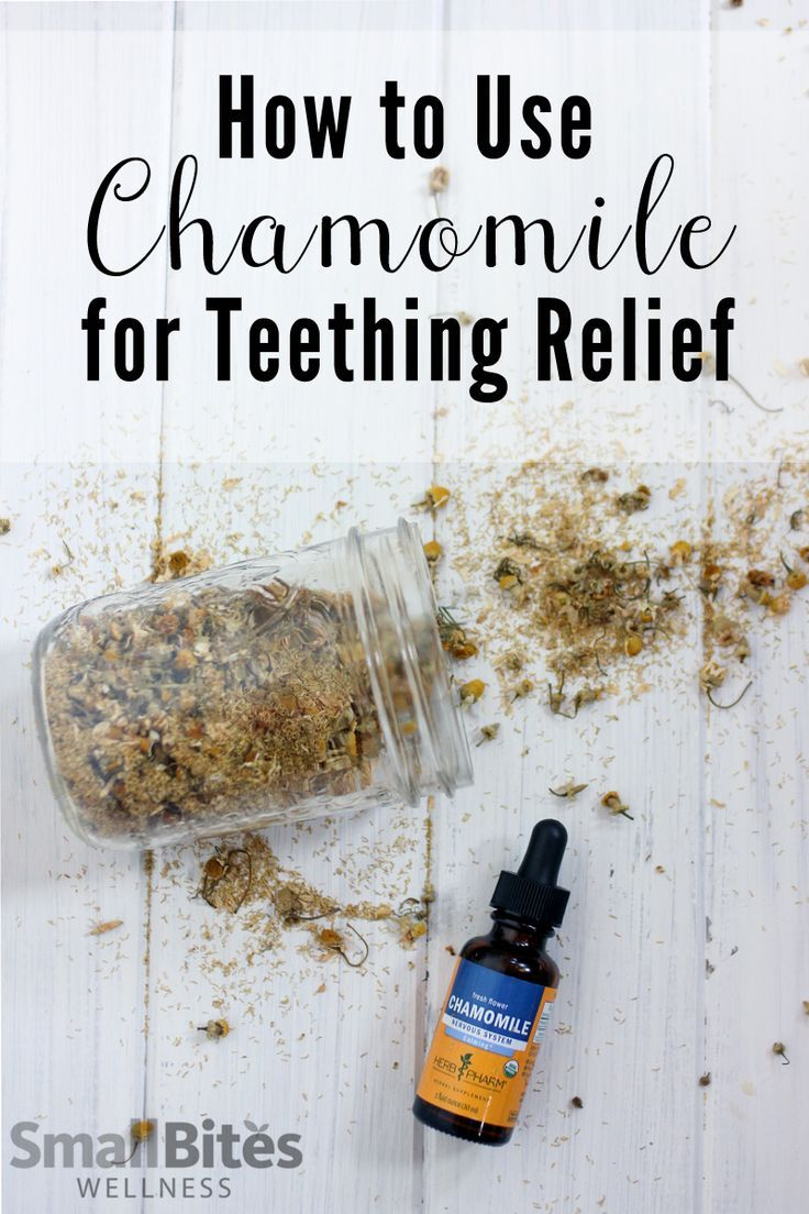 Looking for natural teething remedies that are safe? Try chamomile for it's relaxing and pain relieving benefits.