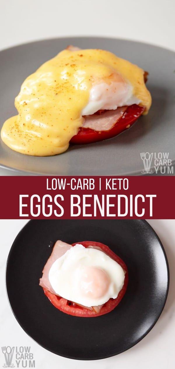 Low Carb Eggs Benedict ist eine der besten Keto-Frühstücksideen. Dieses Keto leicht Brea …
