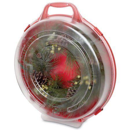 Homz 24 Inch Wreath Storage Box, Set Of 6, Clear