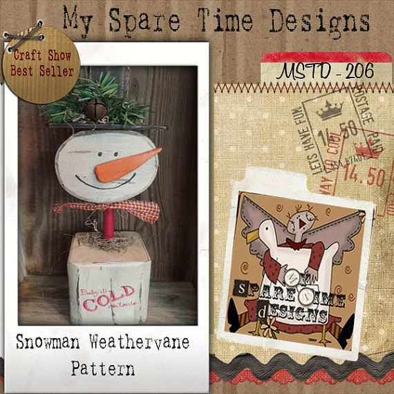 Primitive Snowman Pattern Primitive Snowman by MySpareTimeDesigns2