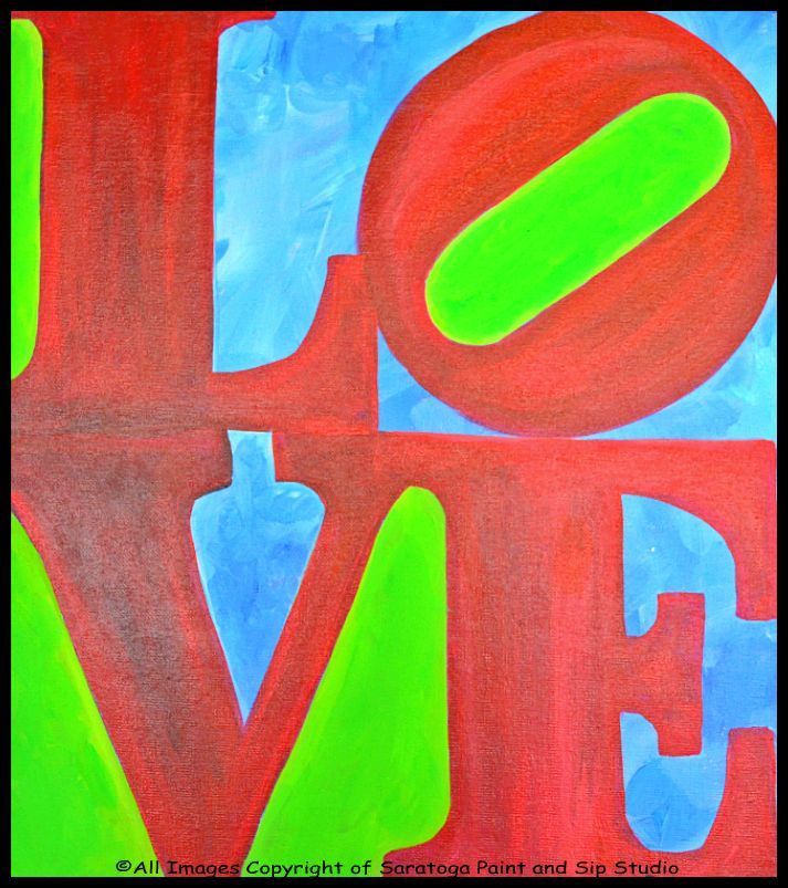 Luxury ALL YOU NEED IS LOVE at Saratoga Paint & Sip Studio For Your Home - Awesome Sip and Paint Locations Pictures