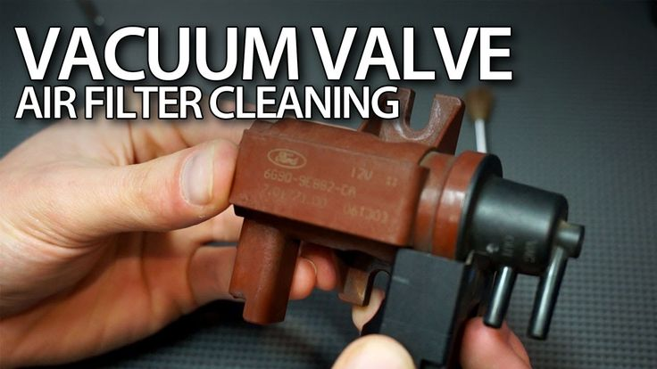 How to clean vacuum valve air filter in 1.6 & 2.0D #TDCi, #HDi engines #Volvo #Ford #Peugeot #Citroen #cars #tutorial #diy #maintenance