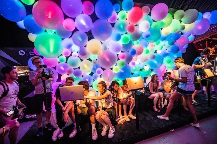 Panorama Music Festival: At the inaugural Panorama Music Festival in New York this summer, sponsor HP showcased an attendee-powered color wall inside the Lab. Using the brand's technology, the wall would change colors in time for a selfie taken with a laptop. The activation was produced by Infinity Marketing Team.