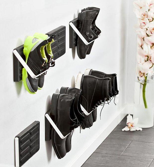 17 Best Ideas About Wall Mounted Shoe Rack On Pinterest