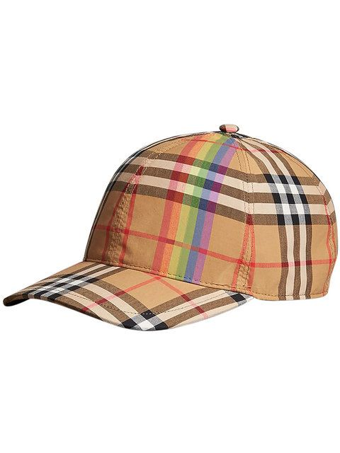 aca2111bac5f3 Burberry Rainbow Vintage Check Baseball Cap