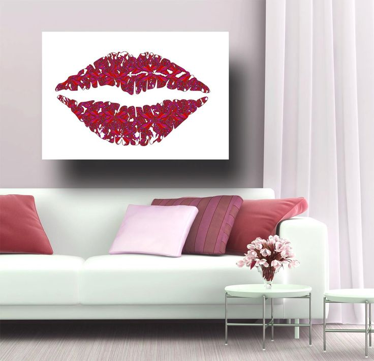 Lips Poster, painting of lips, Kiss Artwork, abstract art of lips, KISSING, lips picture, romantic, kiss Art by artkunzelman on Etsy https://www.etsy.com/listing/80974280/lips-poster-painting-of-lips-kiss