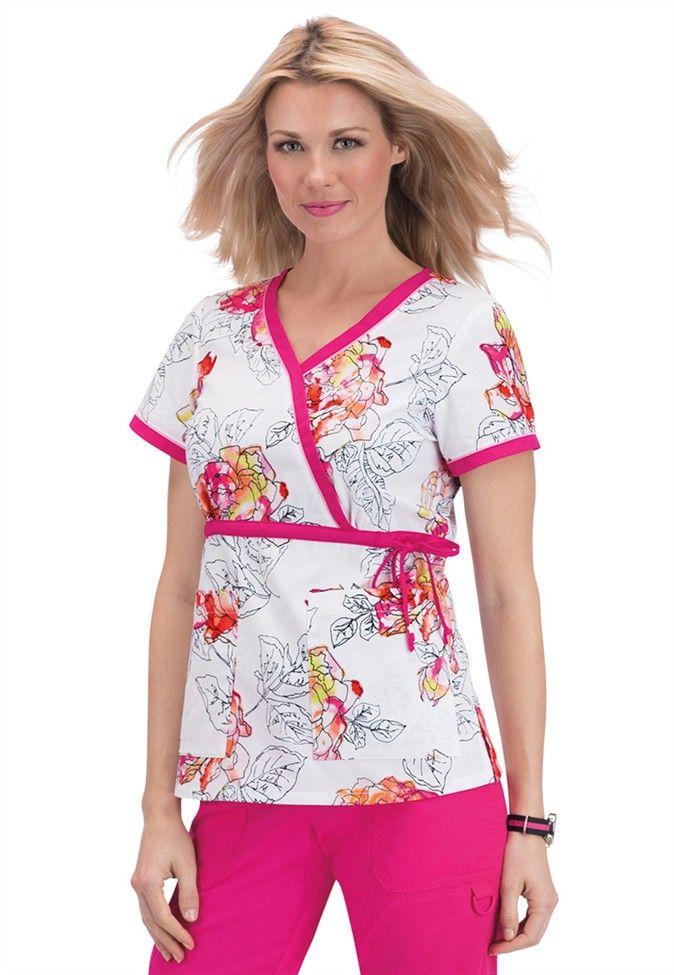2ff9ada66c1 Koi Kathryn Inked Roses print scrub top | Scrubs and Beyond | scrubs |  Scrubs, Medical uniforms, Koi scrubs