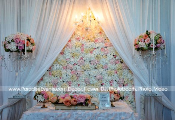 flower wall wedding flowers