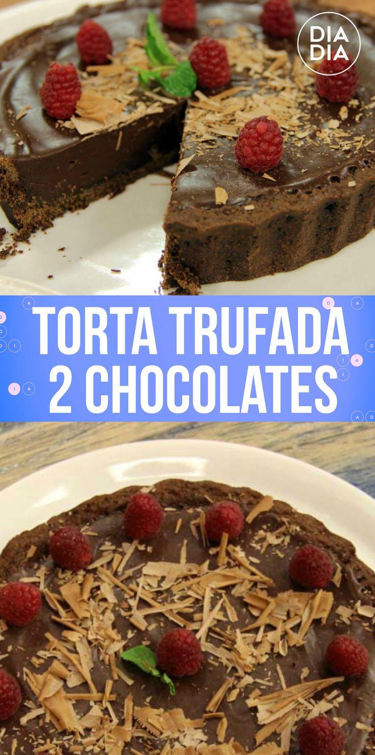 Torta Trufada 2 Chocolates