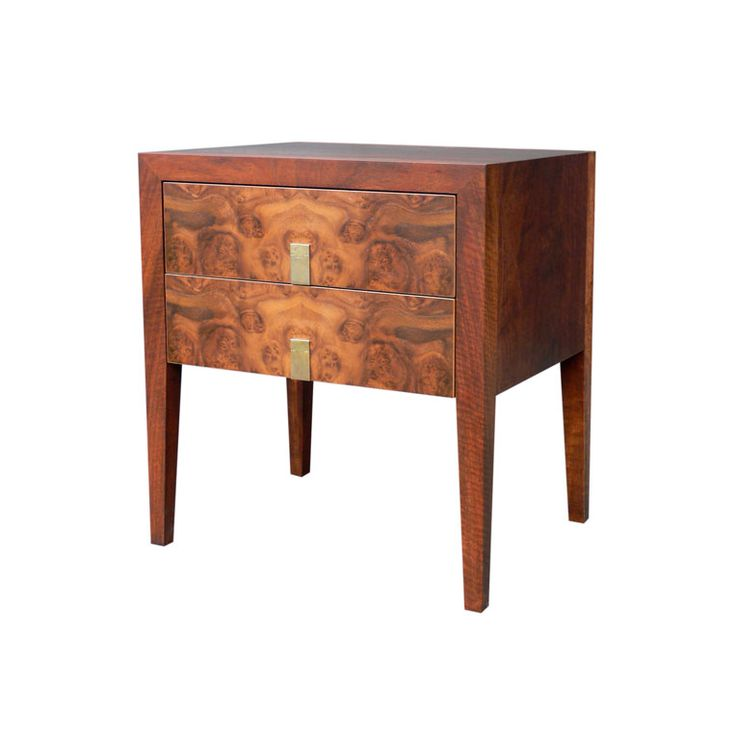 Burl front Bedside Table by Anton Gerner - bespoke contemporary furniture melbourne