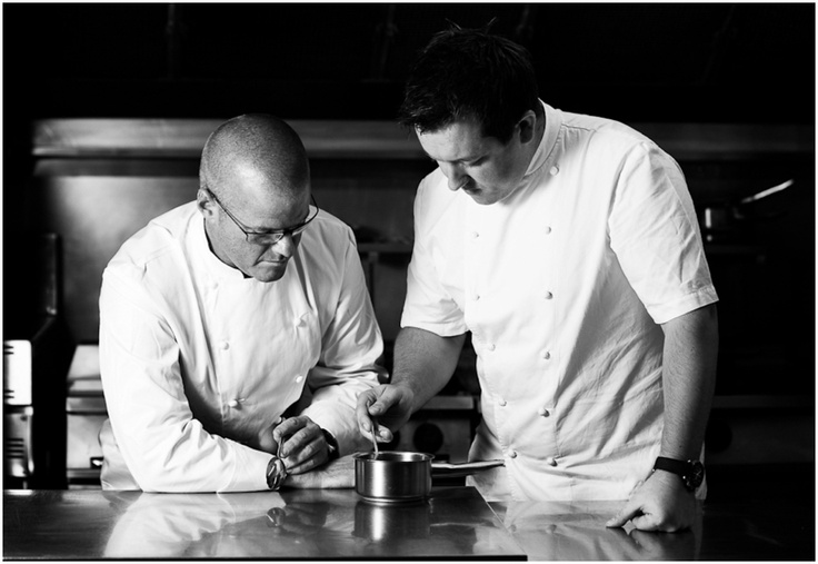 Heston Blumenthal and Ashley Palmer-Watts from Dinner