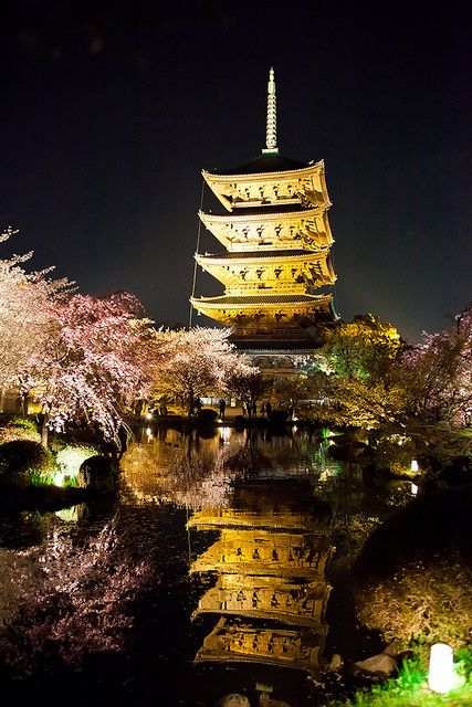 Kyoto, Japan: Favorite Places, To Ji Temples, Kyotojapan, Guide Travel, Beautiful Places, Spring Night, Toji Temples, Kyoto Japan, Japan Travel