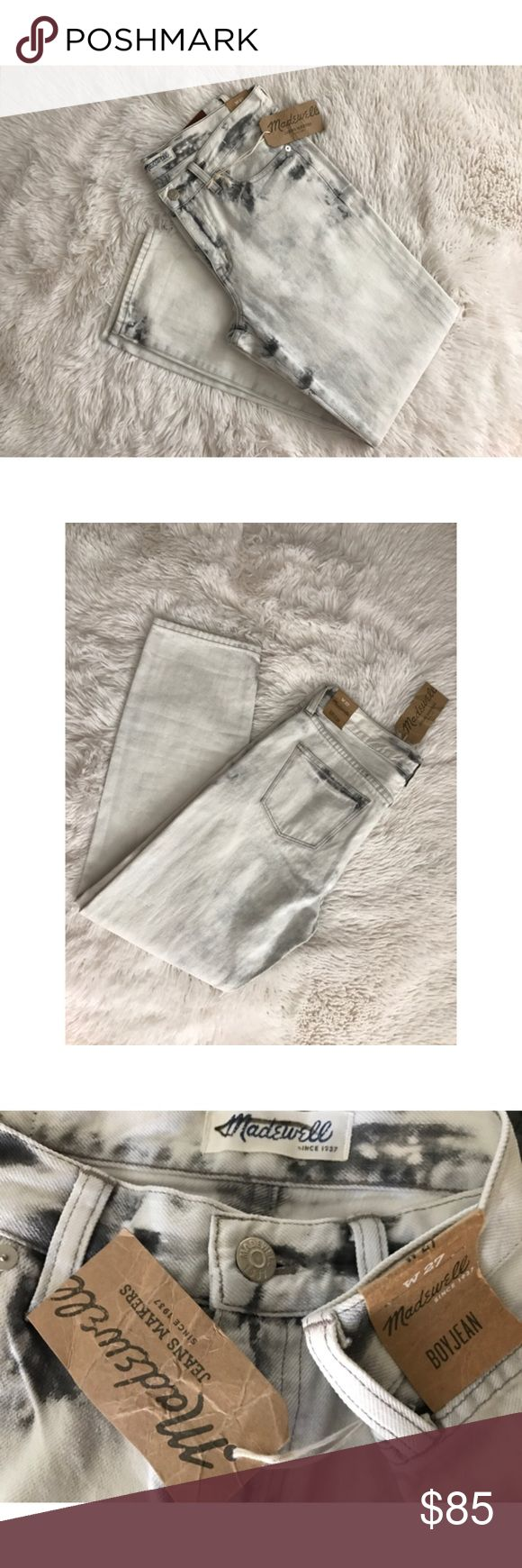 Madewell Boy Jean Tie Dye Bleached Smokey Denim 🆕 W/ RETAIL TAGS, NEVER WORN ✖️NO TRADES • NO PP • NO MERC@RI  ✔️ADD'L INFO/PICS BY REQUEST ✔️POSTED = AVAILABLE  ✔REASONABLE OFFERS WELCOMED ✔BUNDLE 2+ FOR 10% DISCOUNT Madewell Jeans Boyfriend