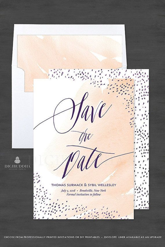 sample wording for save the date wedding cards%0A Watercolor Save the Date Announcement Printable Wedding Announcement  Watercolor Save the Date Peach Save the Dates